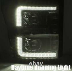 11-16 Powerstroke Headlights F 250/350/450 LED DRL Headlights Sequential 4th Gen