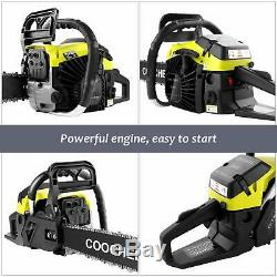 2019 Upgraded 58CC 4 HP 20 Inch Petrol Chain Saw Gas Power Chainsaws 2 Strokes