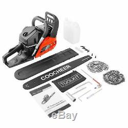 20 Chainsaw 58CC Powerful Gas Chainsaw 2 Stroke Handed Petrol Chain Saw + Bag