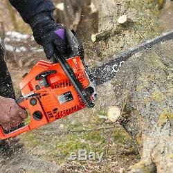 20''Gas Powered Chainsaw 62CC 2-Stroke Chain Saws with Tool Kit for Wood Cutting