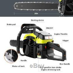 20 Guide Board Chainsaw Gasoline Powered Chain Saw 58CC Two-stroke Yellow