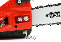 25.4CC 12'' Mini Gasoline Chainsaw Top Handle Gas Chainsaws 2-Stroke Gas Powered