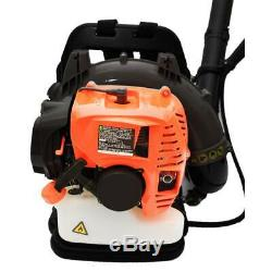 2Stroke Backpack Gas Leaf Blower 52CC 3.2HP Powered Debris withPadded Harness US