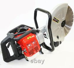 2 Stroke Gas Power Handheld 14 Cement Wet Dry Masonry Concrete Cut Saw WithBlade