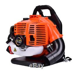 3.2HP 52CC Gas Leaf Backpack Powered Blower EPA Debris 2Stroke withPadded Harness