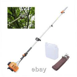 3-HP 2-Stroke Gas-Powered Chain Pole Saw Tree Trimmer with Extension Pole 11ft