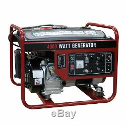 4000W Gasoline Generator 4 Stroke 208cc Air Cooled Gas Powered Portable EPA