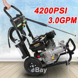 4200PSI 3.0GPM Gas Pressure Washer Powerful Water Cleaner 4-Stroke Machine US