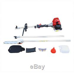 42.7CC 2Stroke Gas Powered Pole Saw Chainsaw Pruner Tree Trimmer+300mm 12 Blade