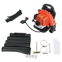 42.7CC 2-Stroke Gas Backpack Leaf Blower Powered Debris Padded Harness USA