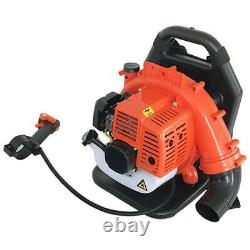 42.7CC Gas Backpack Leaf Blower 2 Stroke Powered Debris with Padded Harness EPA