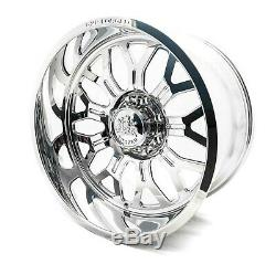 (4) 22x10 GXP Forged HCD16 Wheels Polished 8x170 For Ford Super Duty Powerstroke