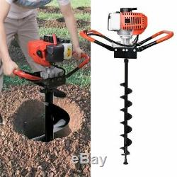 52CC 2-Stroke Gasoline Gas Powered Earth Auger Post Hole Digger Machine + 3 Bits