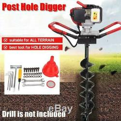 52CC 2-Stroke Gasoline Gas Powered One Man Earth Auger Post Hole Digger Machine