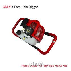 52CC Earth Gas Powered Post Hole Auger Digger Borer+Drill Bit 6 2.2HP 2-Stroke