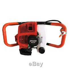52cc 2.3HP 2-Stroke Gas Powered Post Earth Hole Auger Digger Borer +4,6,8Bits