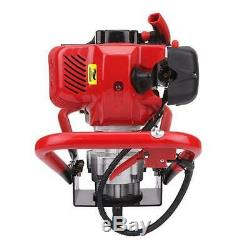 52cc 2-Stroke Gasoline Gas Powered Post Hole Digger Earth Auger Ground Fence