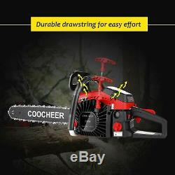 58CC Gas Engine 20Inch Guide Board Chainsaw 2Stroke Gasoline Powered Handheld US