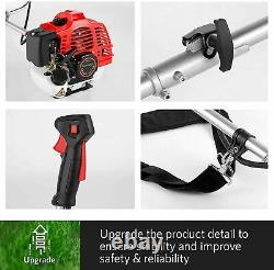 58cc 2-Stroke 4 in1 Gas Straight Shaft String Grass Trimmer Powered Brush