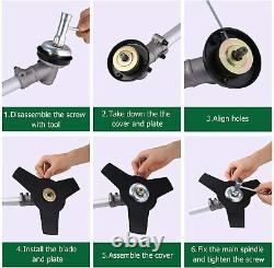 58cc 2-Stroke 4 in1 Gas Straight Shaft String Grass Trimmer Powered Brush Cutter