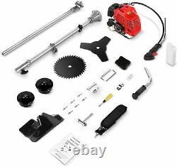 58cc 4 In1 Gas Straight Shaft String Grass Trimmer Powered Brush Cutter 2-Stroke