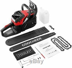 58cc Gas Powered Chainsaw 20 Inch 2 Stroke Handed Petrol Gasoline Chain Saw Red