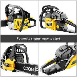62CC 20\ Gas Powered Chainsaw with 2 Stroke Handed Petrol Woodcutting Tool Kit