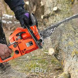 62cc 3.5HP 20in Powerful Petrol Chainsaw 2-Stroke Handed Gas Powered Chain Saw