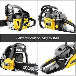 62cc Gas Powered Chainsaw 20Inch 2Stroke Handed Petrol Gasoline + Tool Kit