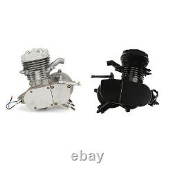 80cc 2-Stroke Engine Motor for Motorised Bicycle Gas Powered H/P Black / Silver
