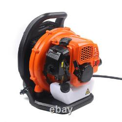 Backpack Blower Gas Powered Leaf Lawn Grass Blower Leaf Grass 2-Strokes Orange