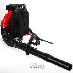 Gas Backpack Leaf Blower 79.4CC 2-Stroke Powered Debris with Padded Harness EPA