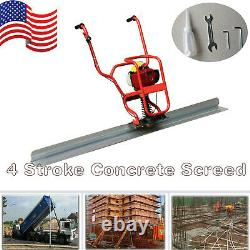 Gas Power 4 Stroke Concrete Surface Vibratory Leveling Screed 6.56' Tamper Blade
