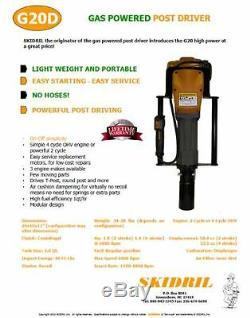 Gas Powered T Post Driver $995.00 by SKIDRIL 2 STROKE