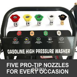 Gas Pressure Washer 4800PSI 7HP Gas with Power Spray Gun 4-Stroke 5 Nozzles New