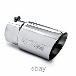 MBRP 12 Stainless Steel Exhaust Tip Dual Wall Angled 5 Inlet 6 Outlet T5074