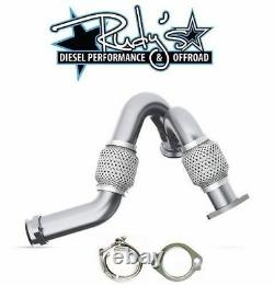 MBRP Heavy Duty Up Pipes with Exhaust Clamp & Gasket For 2003-2007 Ford 6.0L