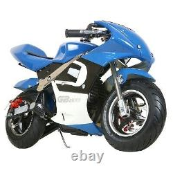 Mini Gas Power Pocket Bike Motorcycle, 40CC 4-Stroke Ride on Toys by EPA Approved