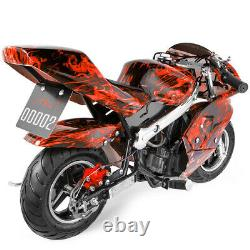 Mini Gas Power Pocket Bike Motorcycle 40CC 4-Stroke Ride on Toys by EPA Approved