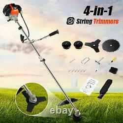 NEW 58cc 2-Stroke 4 in1 Gas Straight Shaft String Grass Trimmer Powered Brush US