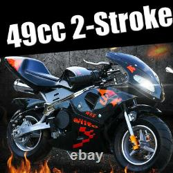 New Upgraded Motorcycle 49cc 2-Stroke Mini Gas Power Motorcycle With Lamp
