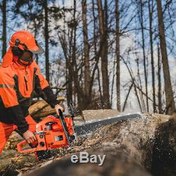 Petrol Chainsaw 62cc 3.5HP 20 Gas Powered Chain saw 2 Stroke Handed With Tool Kit