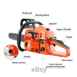 Petrol Chainsaw 62cc 3.5HP 20 Gas Powered Chainsaw 2Stroke Handed Chain Saw HOT