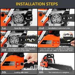 Petrol Chainsaw 62cc 3.5HP 20\ Gas Powered Chainsaw 2 Stroke Handed Chain Saw