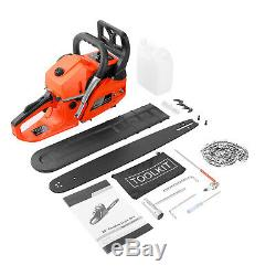 Petrol Chainsaw 62cc 3.5HP 20 Powerful Chainsaw 2Stroke Handed Gas Powered Tool
