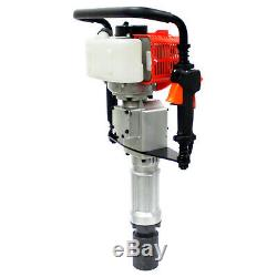 Portable 52cc Gas Powered Pile Driver T Post Pole Fence 2 Stroke Fencing Hammer
