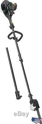 Poulan Pro 967089701 25cc 2 Stroke Gas Powered Straight Shaft Pole SawithTrimmer C
