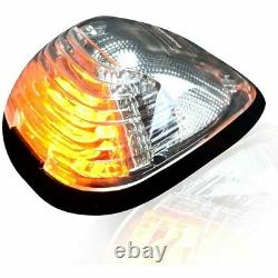 Recon Clear Lens Amber LED Cab Lights For 1999-2016 Ford Powerstroke Super Duty