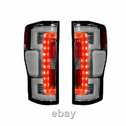 Recon Dual UBar Clear Lens OLED Tail Lights For 2017-2019 Ford Super Duty'BLIS