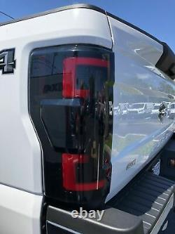Recon Dual U-Bar Smoked Lens OLED Tail Lights For 2017-2019 Ford 6.7L Super Duty